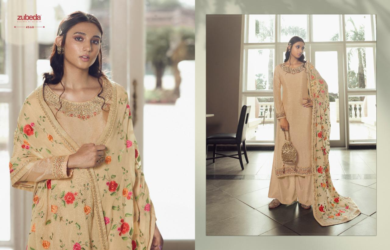Zubeda Avani Chinon With Embroider collection 10