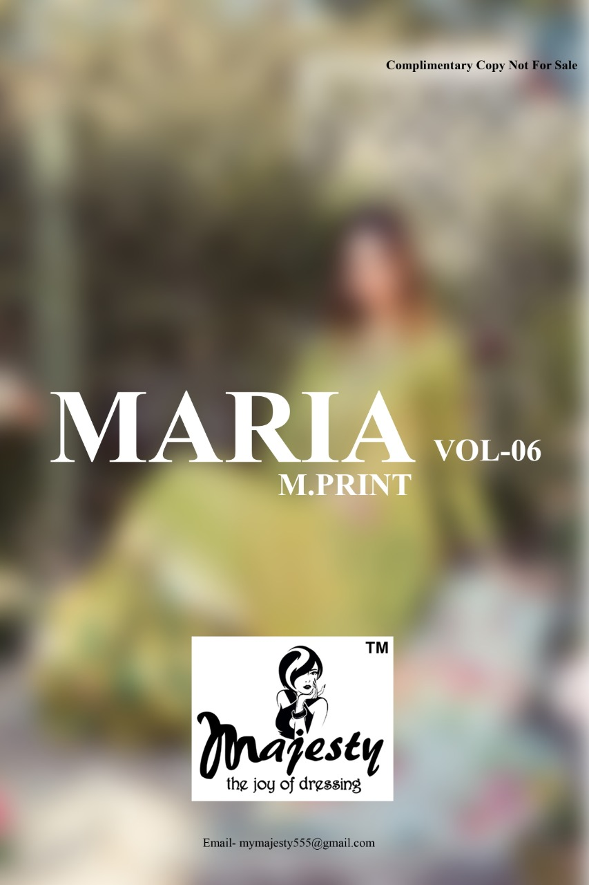 Majesty Maria M Print Vol 6 Lawn collection 8