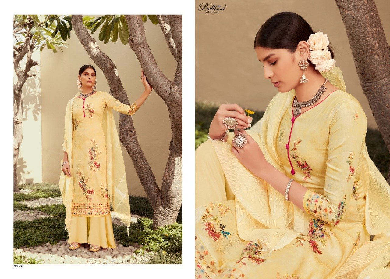 Belliza Roshni Pure Jam Cotton Print collection 4