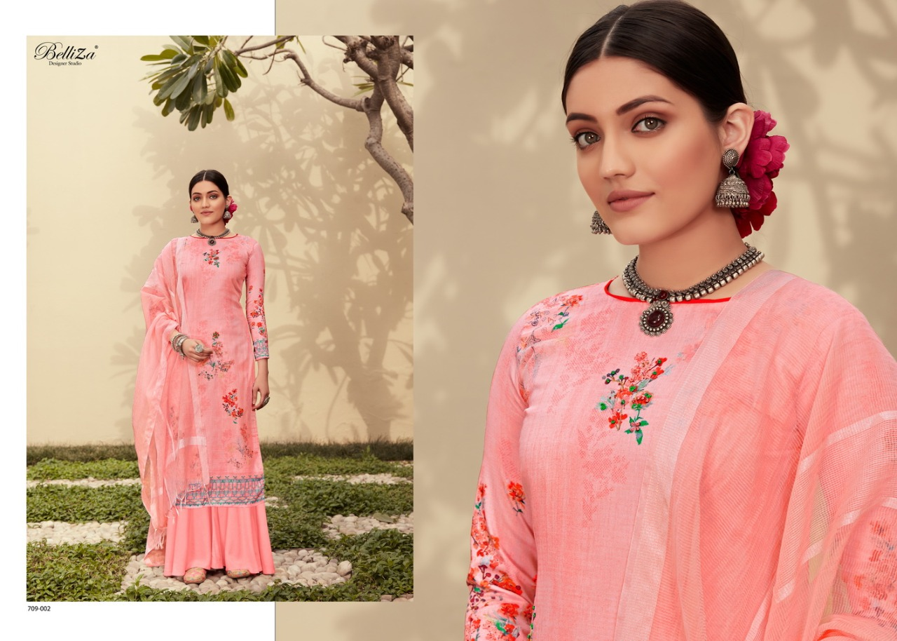 Belliza Roshni Pure Jam Cotton Print collection 1