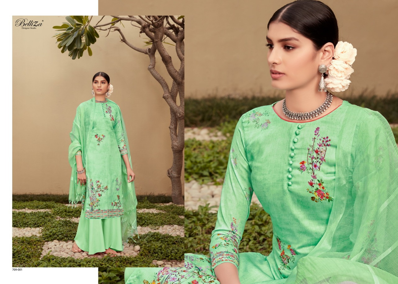 Belliza Roshni Pure Jam Cotton Print collection 5