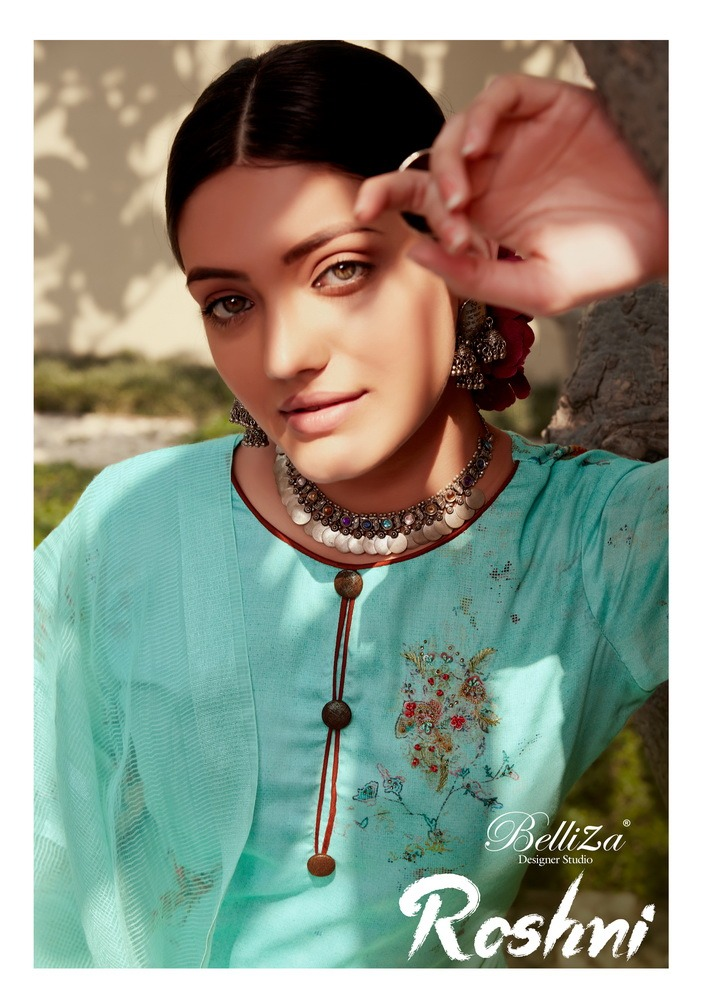 Belliza Roshni Pure Jam Cotton Print collection 2