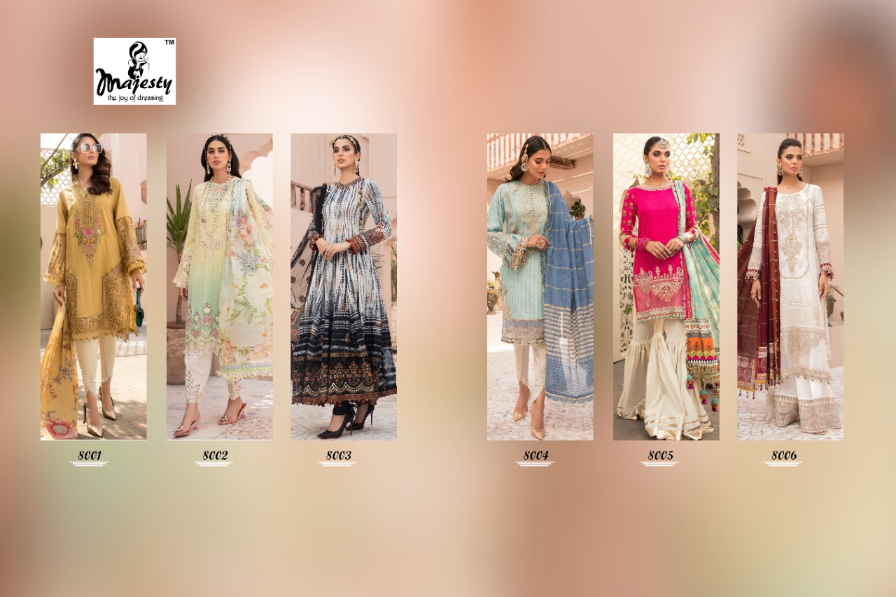Majesty Maria B Lawn 8 collection 3