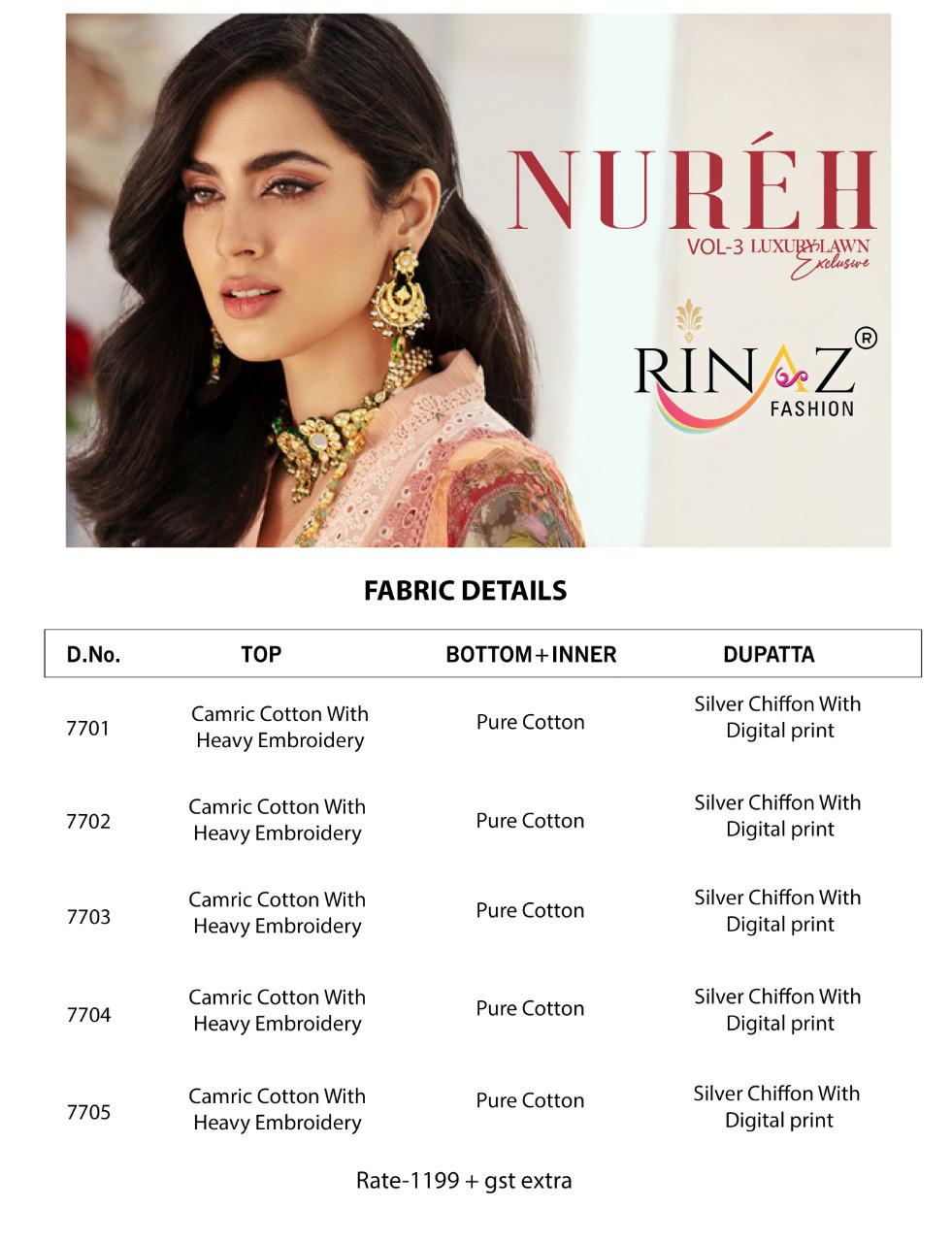 Rinaz Nureh Vol 3 Heavy Embroidery collection 7