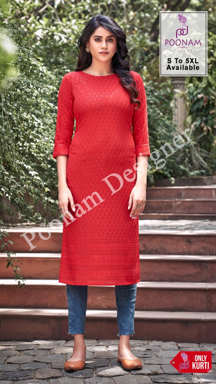 Poonam Designer Rayon Lucknowi collection 1