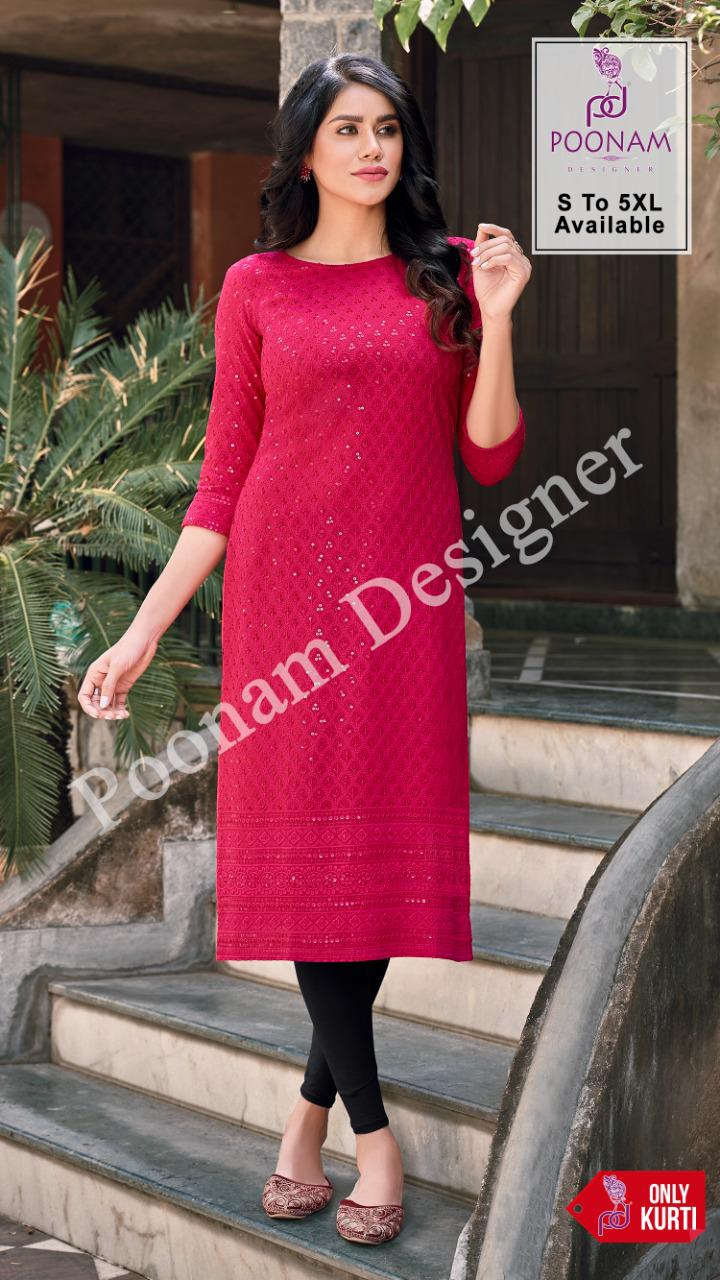 Poonam Designer Rayon Lucknowi collection 3