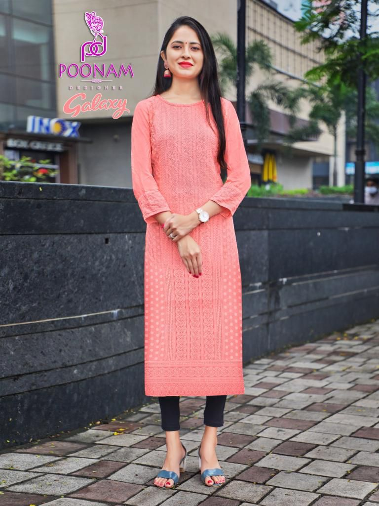 Poonam Galaxy Ethnic Wear Rayon collection 8