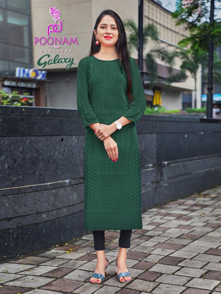Poonam Galaxy Ethnic Wear Rayon collection 5