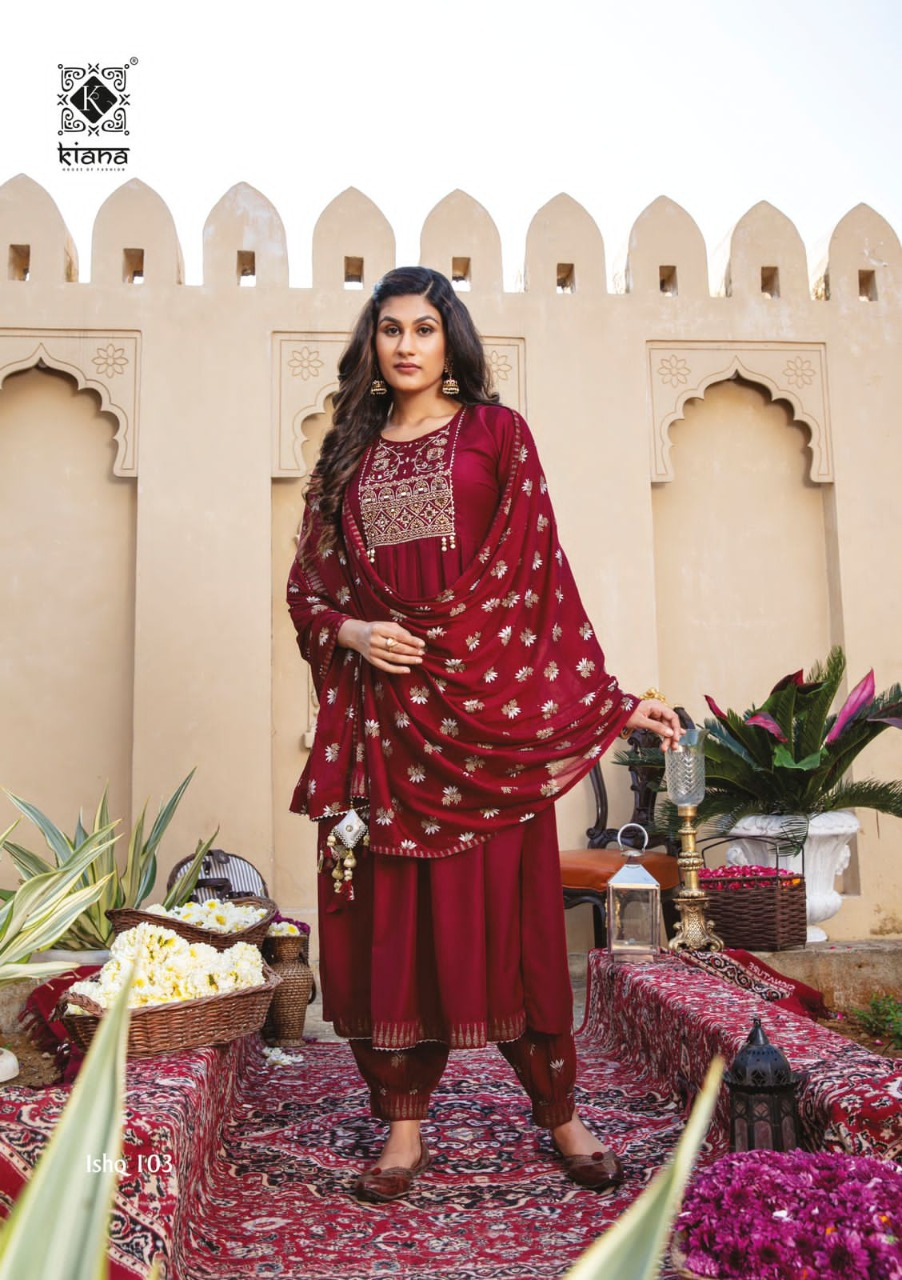 Kiana Ishq Maslin Embroidery Worked collection 8