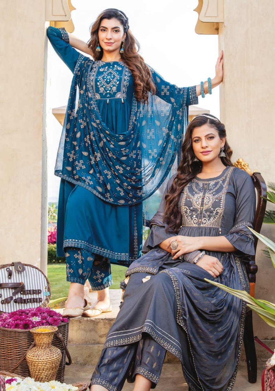 Kiana Ishq Maslin Embroidery Worked collection 4