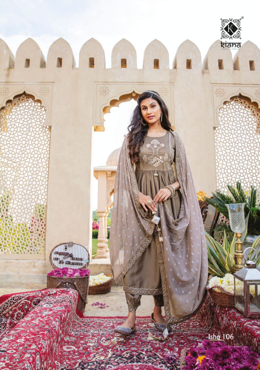 Kiana Ishq Maslin Embroidery Worked collection 2