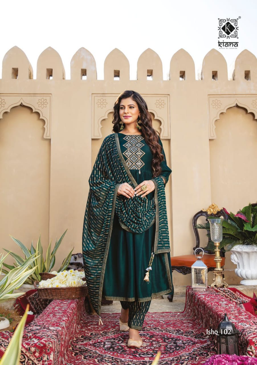Kiana Ishq Maslin Embroidery Worked collection 5