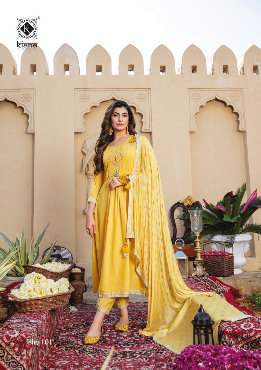 Kiana Ishq Maslin Embroidery Worked collection 3