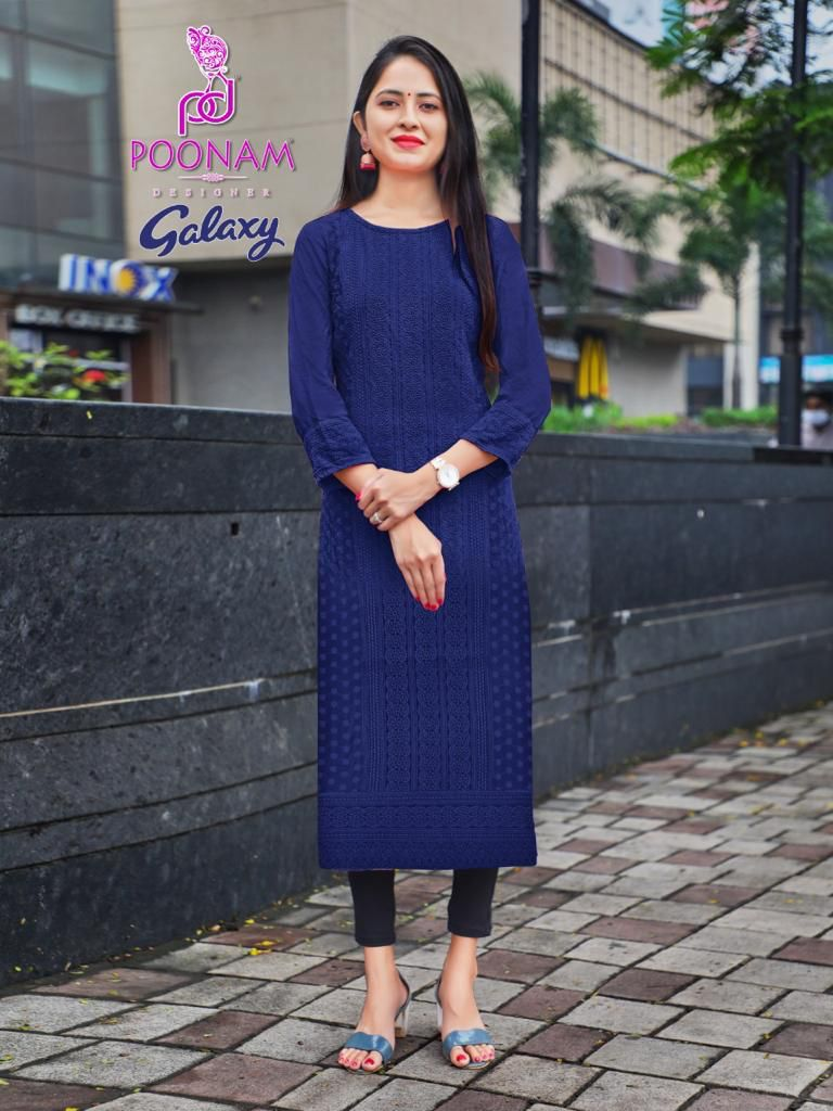 Poonam Galaxy Ethnic Wear Rayon collection 4