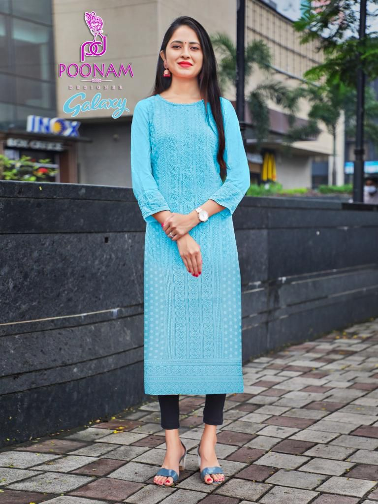 Poonam Galaxy Ethnic Wear Rayon collection 9