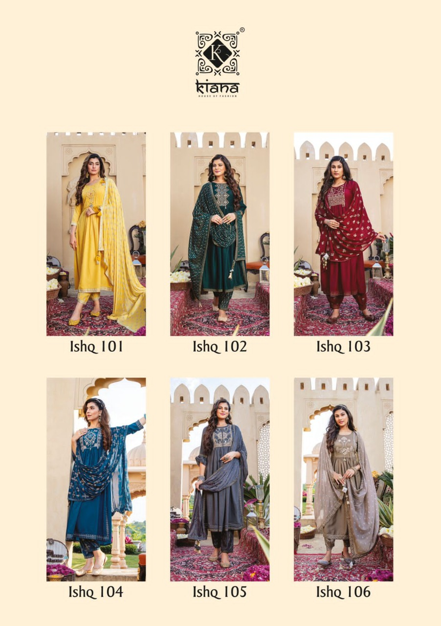 Kiana Ishq Maslin Embroidery Worked collection 1