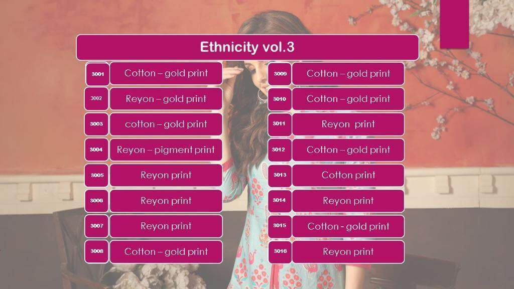 Ethnicity Vol 3 collection 1