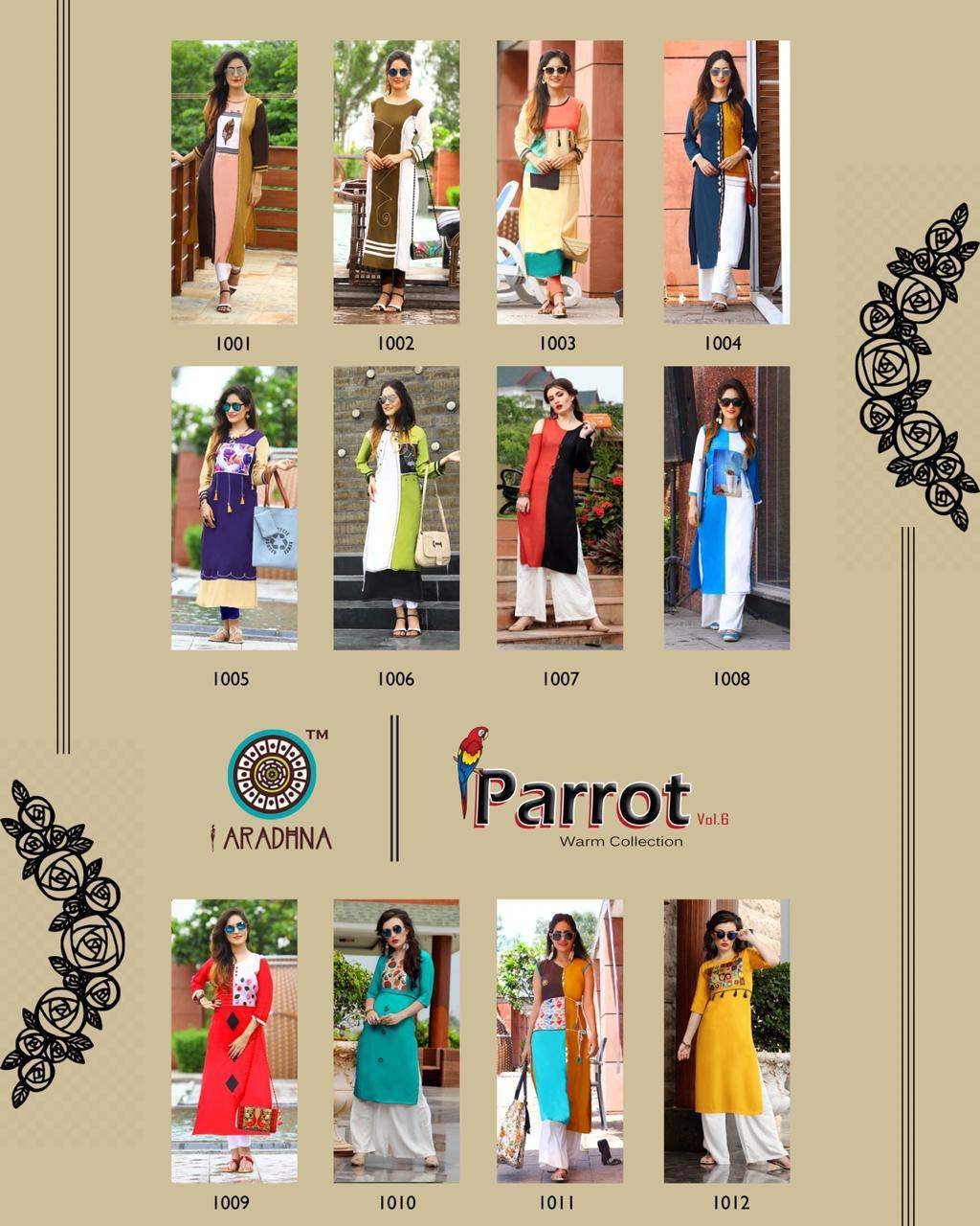 Aradhna Parrot 6 collection 2