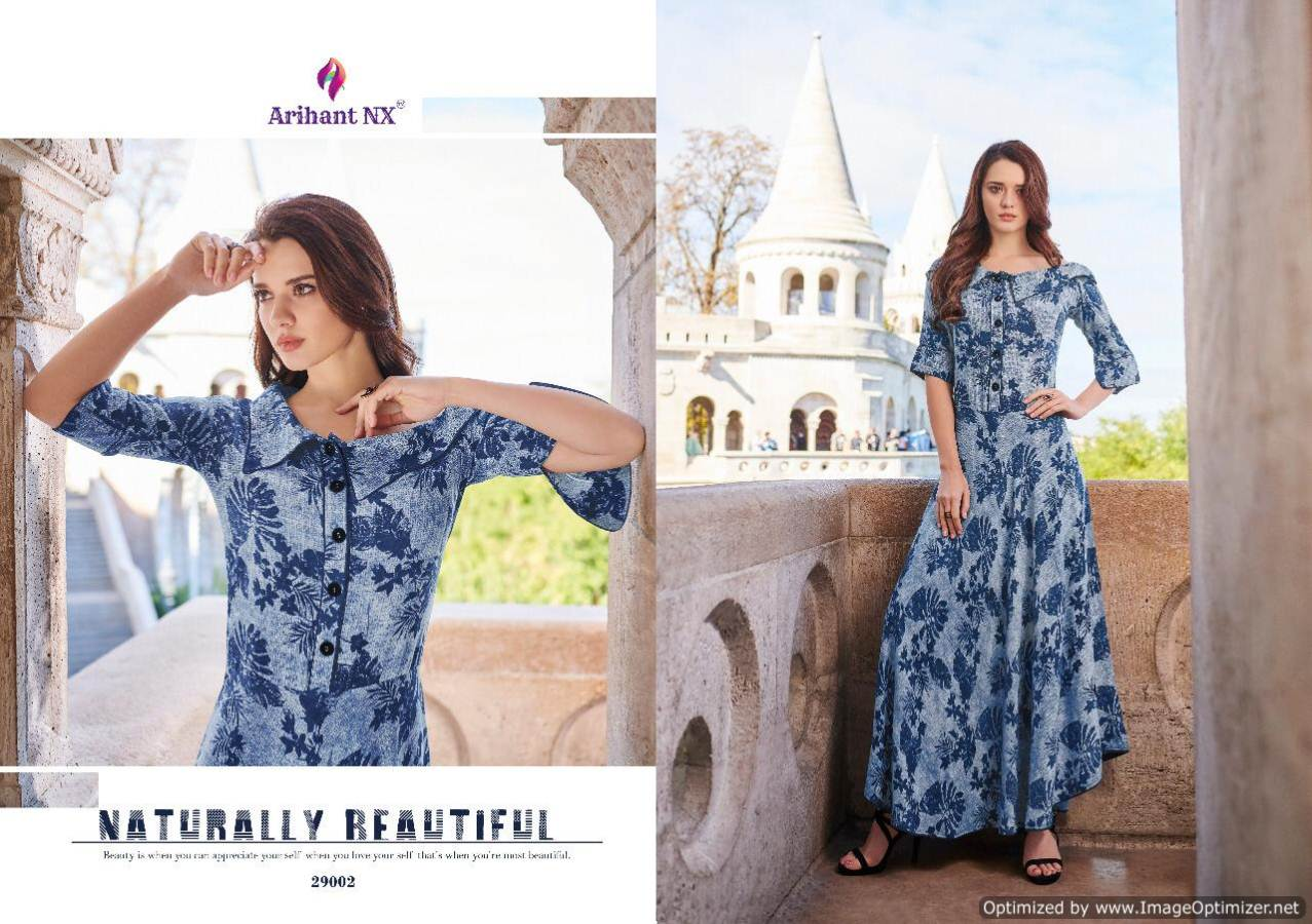 Arihant Rivaah Heavy Rayon Long Kurti Catalog Supplier collection 2
