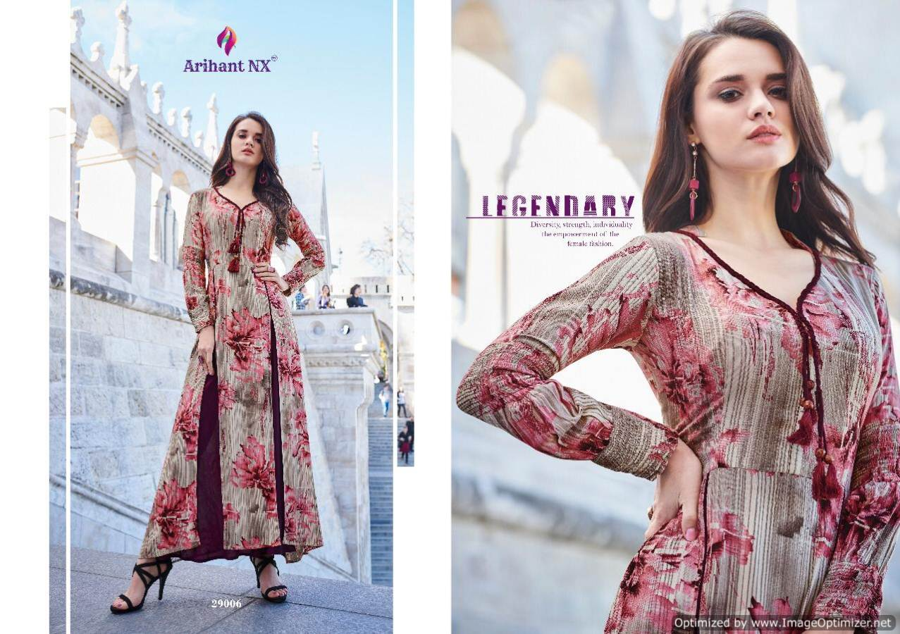 Arihant Rivaah Heavy Rayon Long Kurti Catalog Supplier collection 3