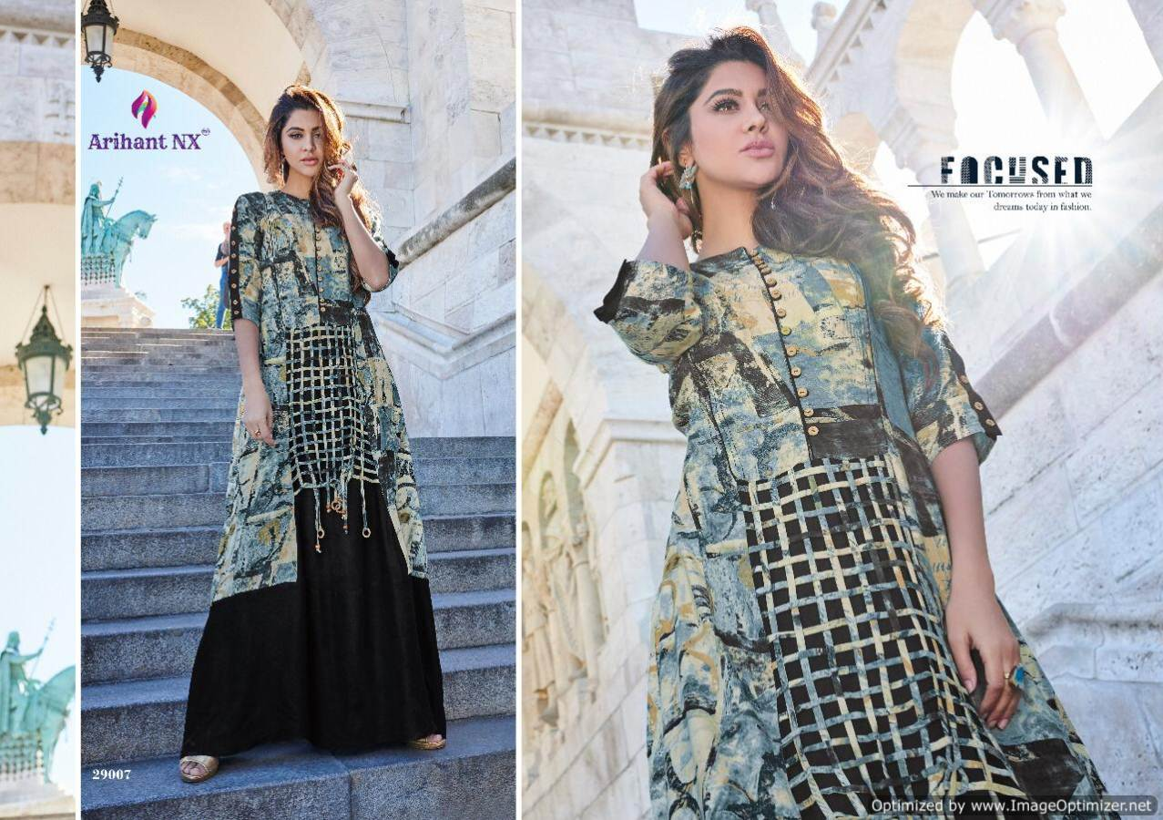 Arihant Rivaah Heavy Rayon Long Kurti Catalog Supplier collection 4