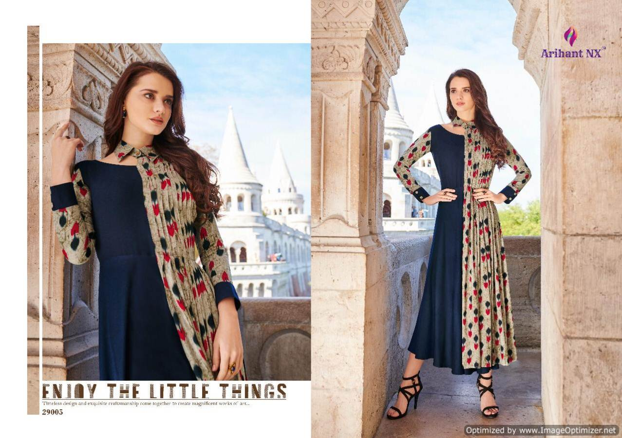 Arihant Rivaah Heavy Rayon Long Kurti Catalog Supplier collection 6