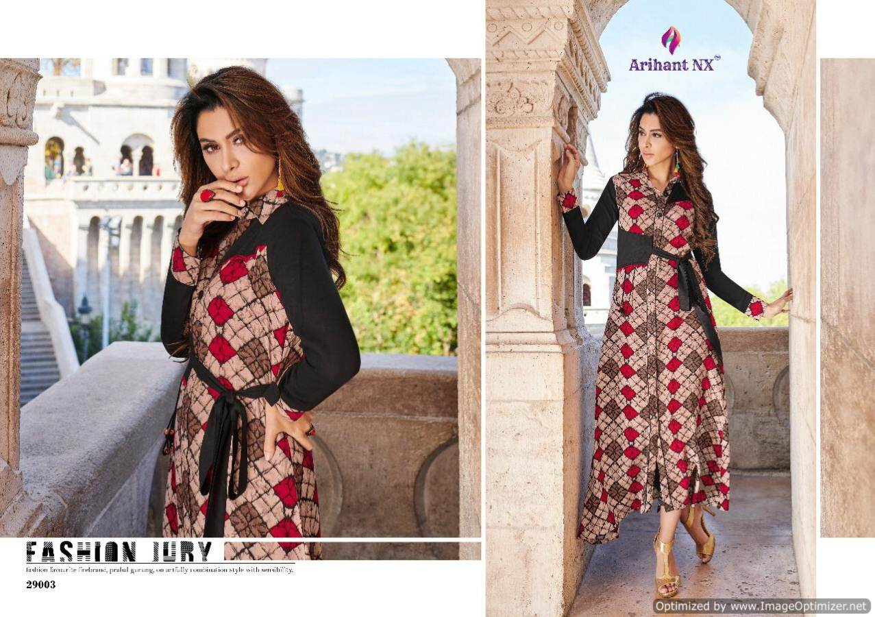 Arihant Rivaah Heavy Rayon Long Kurti Catalog Supplier collection 7