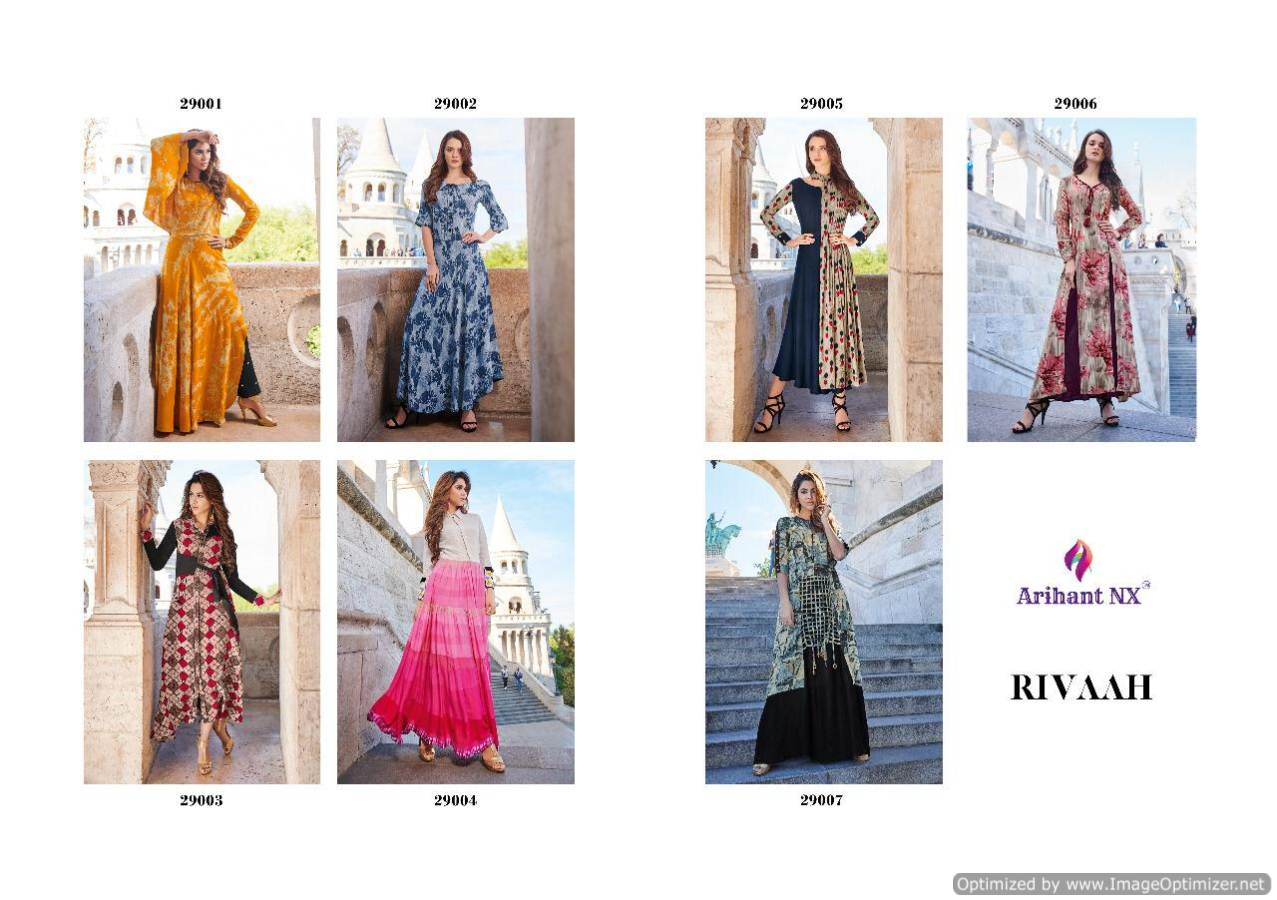 Arihant Rivaah Heavy Rayon Long Kurti Catalog Supplier collection 8
