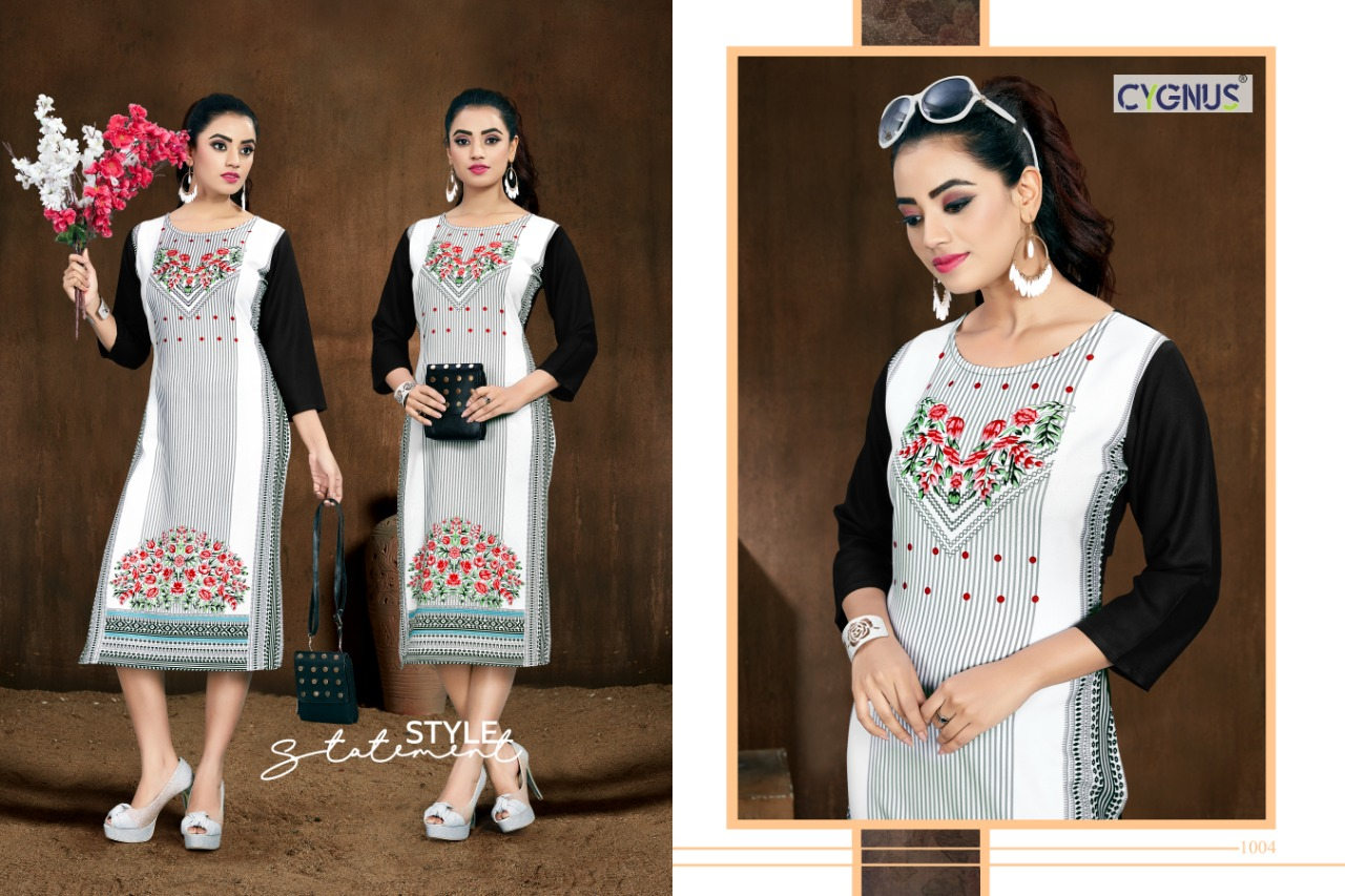 Cygnus Tannu Vol 2 Printed Rayon Kurti Full Catalog collection 1