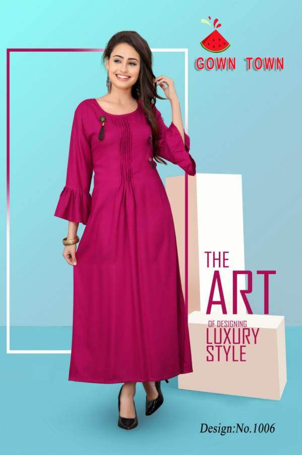 9118305808 Gown Town Kurtis in Wholesale Rate | Kurtis Wholesaler | Online ...