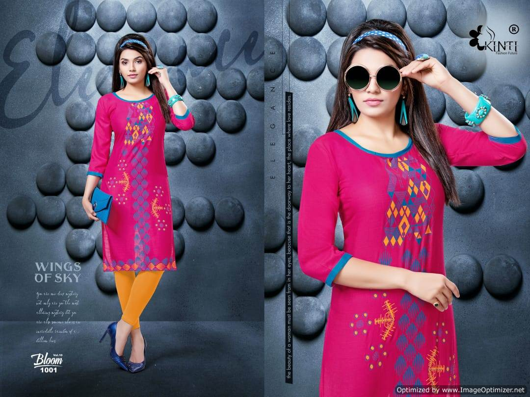 Kinti Bloom 10 Rayon Slub Printed Kurti Collection collection 2