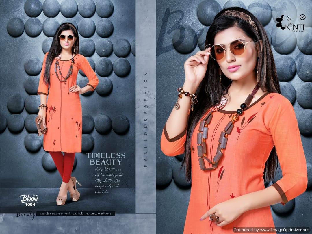 Kinti Bloom 10 Rayon Slub Printed Kurti Collection collection 3