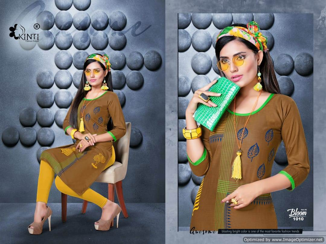 Kinti Bloom 10 Rayon Slub Printed Kurti Collection collection 4