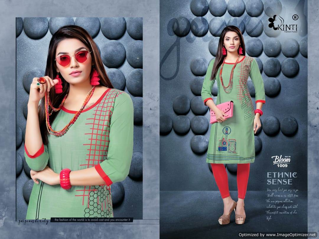 Kinti Bloom 10 Rayon Slub Printed Kurti Collection collection 5