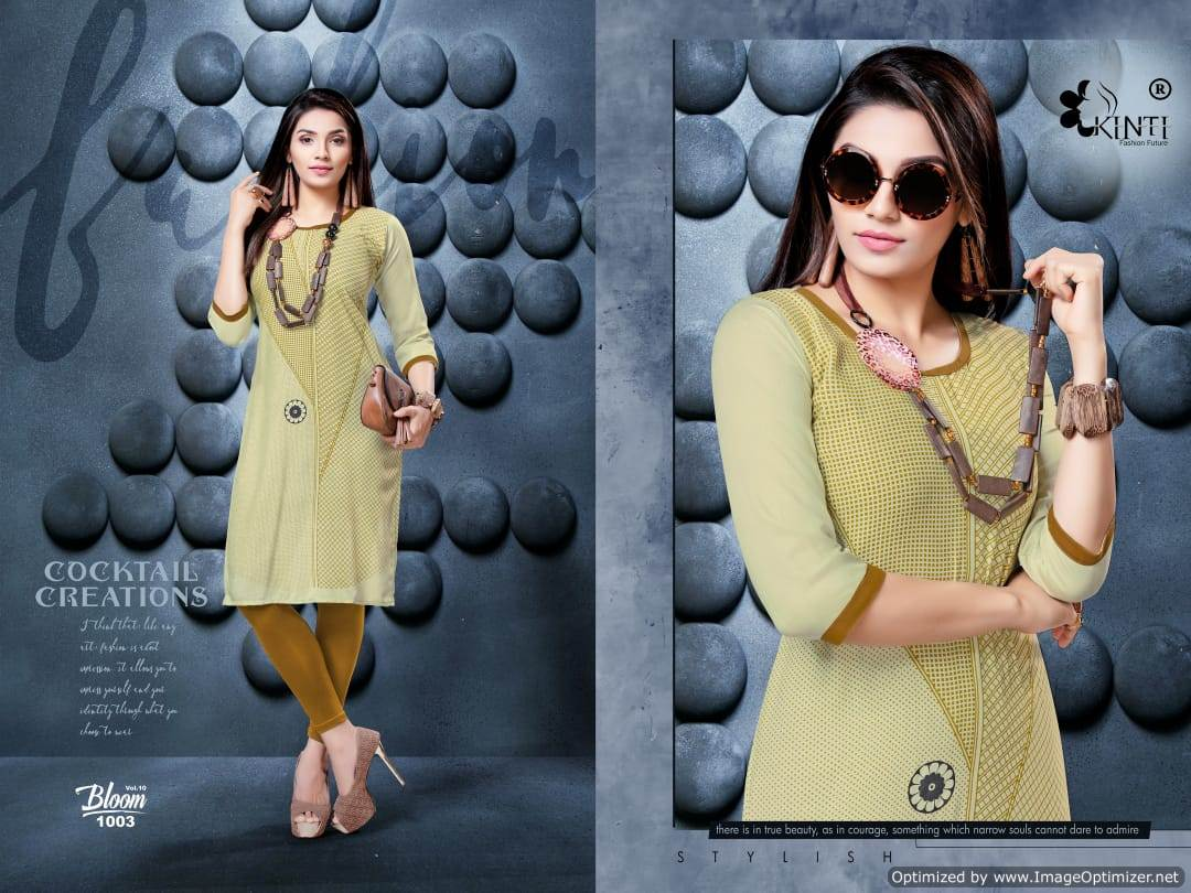 Kinti Bloom 10 Rayon Slub Printed Kurti Collection collection 11