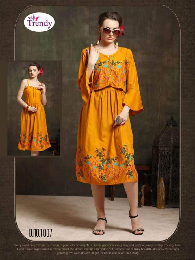 bcc6e238f9 Trendy Hello Jacket 7 Designer Kurtis in Wholesale Rate | Designer ...