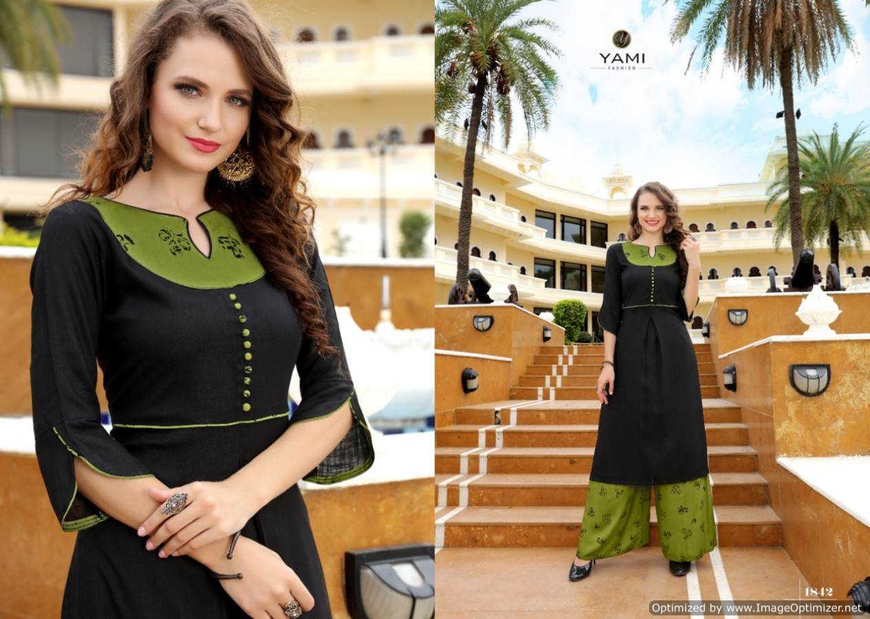 Yami Gerua 3 Heavy Rayon Kurti With Plazzo Full Set collection 2