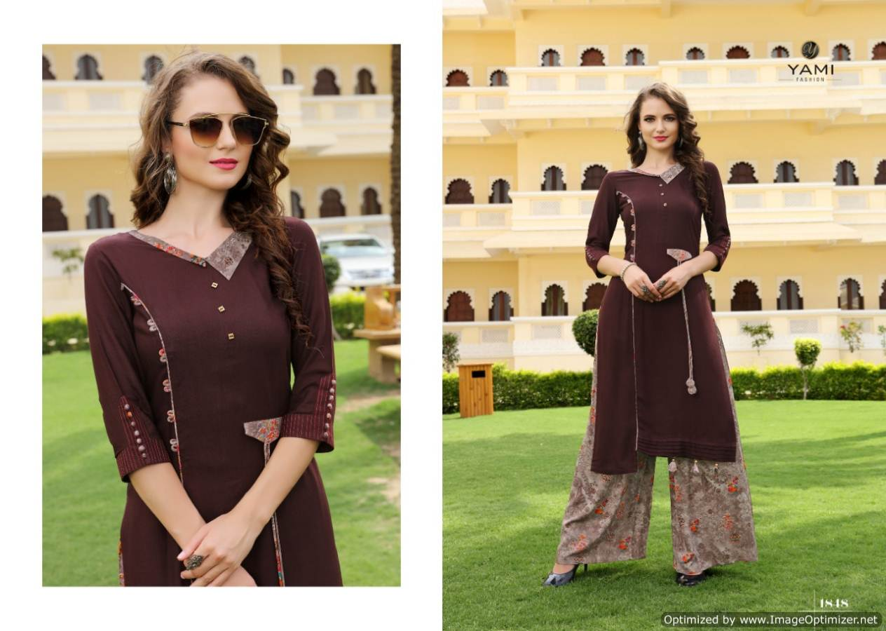 Yami Gerua 3 Heavy Rayon Kurti With Plazzo Full Set collection 7