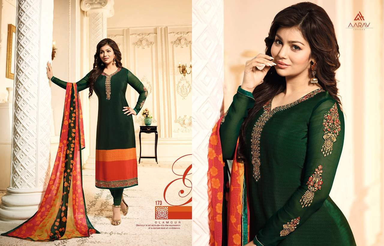 Aarav Trendz Silky Premium Crape Vol 1 collection 3