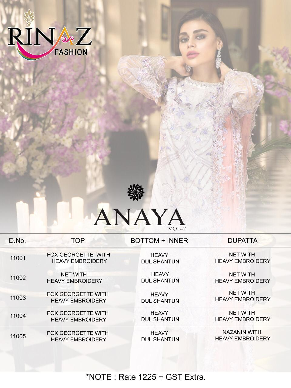 Rinaz Fashion Anaya Vol 2 collection 5