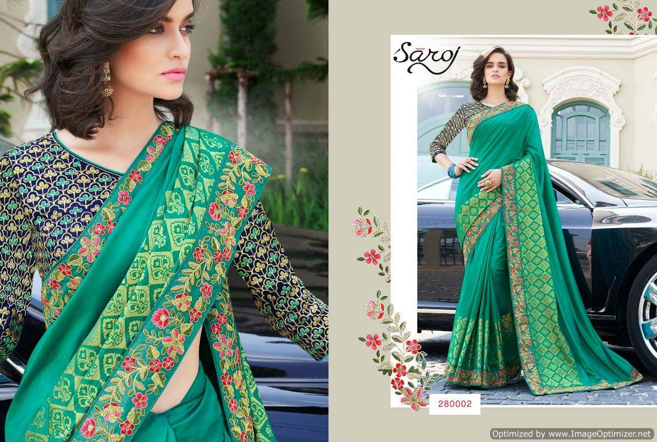 Saroj Anarkali 2 Royal Silk Designer Saree collection 1