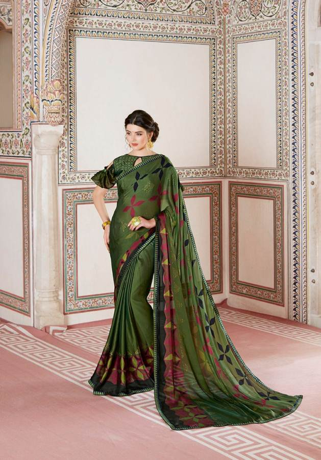 Shangrila Utophia 2 Printed Georgette Fancy Saree Saller collection 1