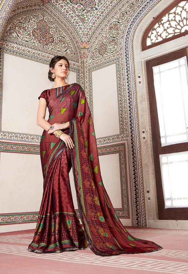 Shangrila Utophia 2 Printed Georgette Fancy Saree Saller collection 3