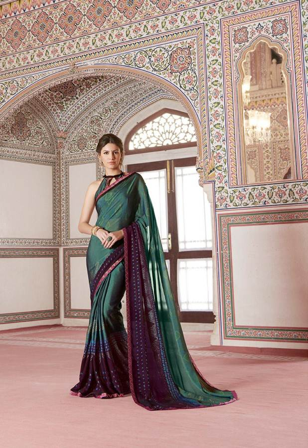 Shangrila Utophia 2 Printed Georgette Fancy Saree Saller collection 4