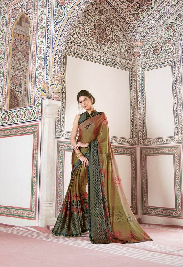 Shangrila Utophia 2 Printed Georgette Fancy Saree Saller collection 7