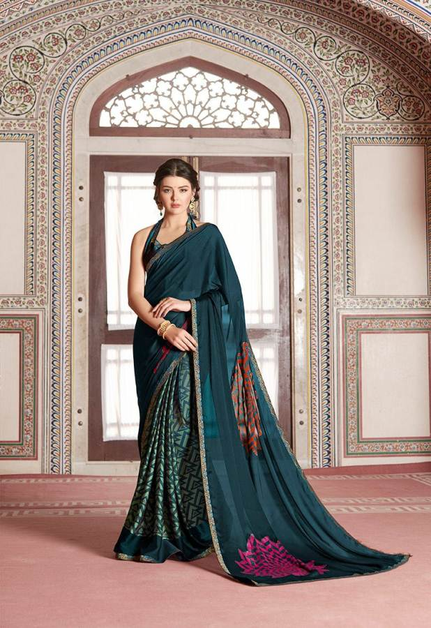 Shangrila Utophia 2 Printed Georgette Fancy Saree Saller collection 9