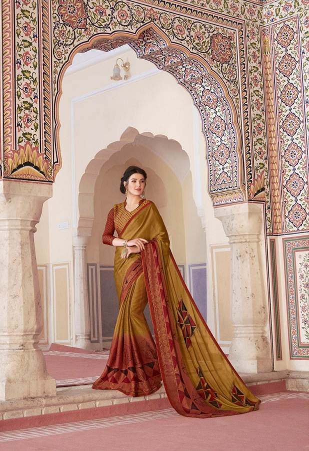 Shangrila Utophia 2 Printed Georgette Fancy Saree Saller collection 10