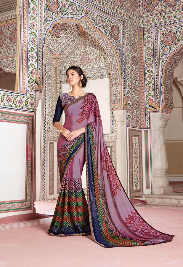 Shangrila Utophia 2 Printed Georgette Fancy Saree Saller collection 11