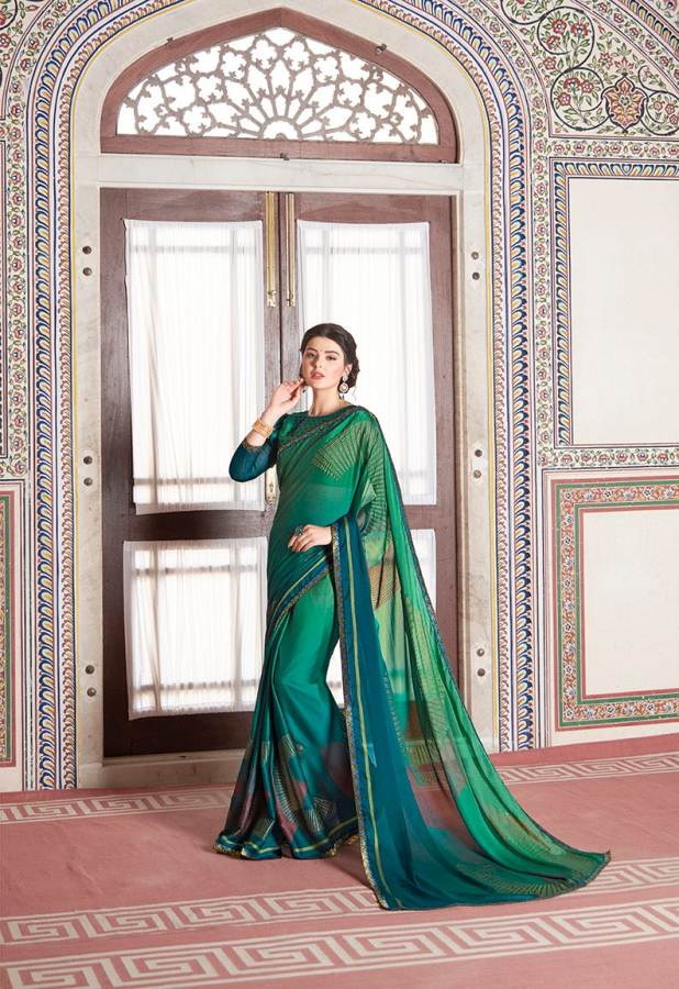 Shangrila Utophia 2 Printed Georgette Fancy Saree Saller collection 12