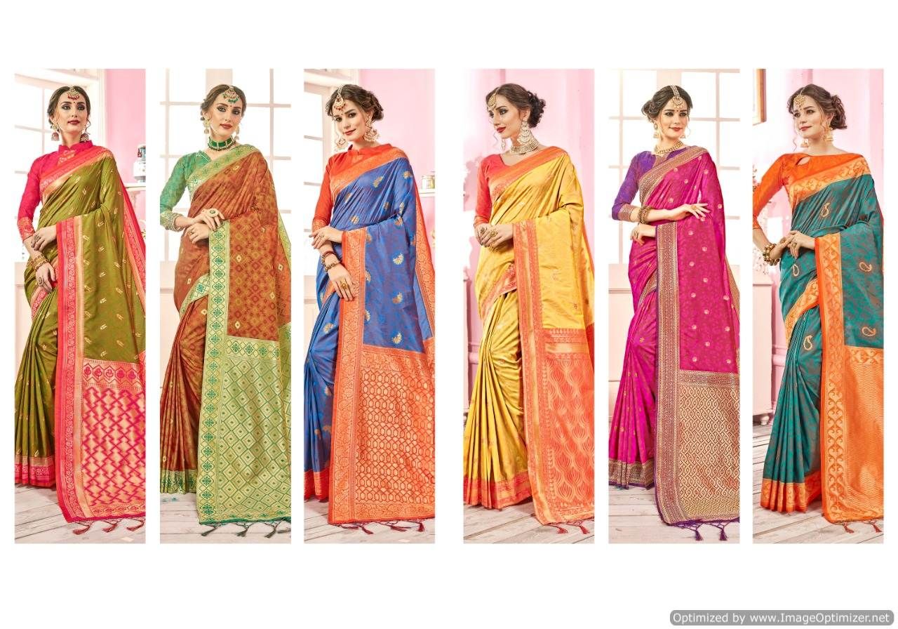 Ynf Ragini Silk Banarasi Silk Saree Wholesale Catalog collection 2